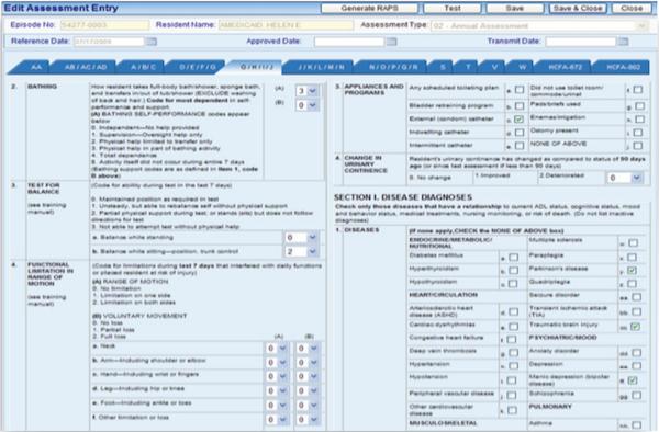 Assessment entry