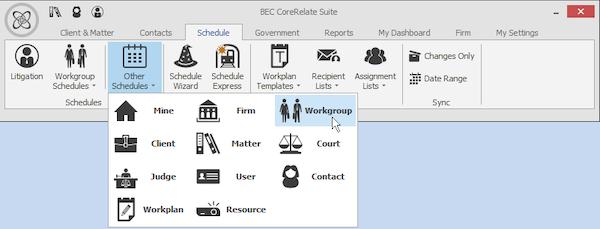 Filter schedule information