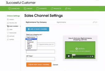 Sales channel listings