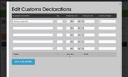 Customs declarations