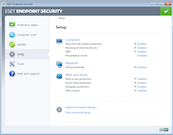 ESET Endpoint Security set up