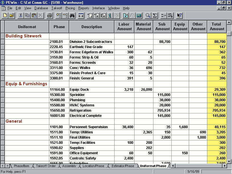 Sage Estimating (formerly Sage Timberline Estimating) - Estimating