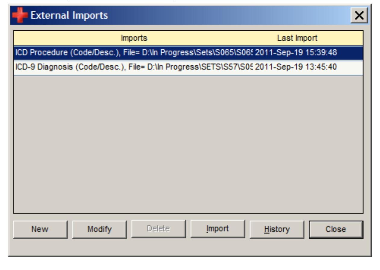 External imports