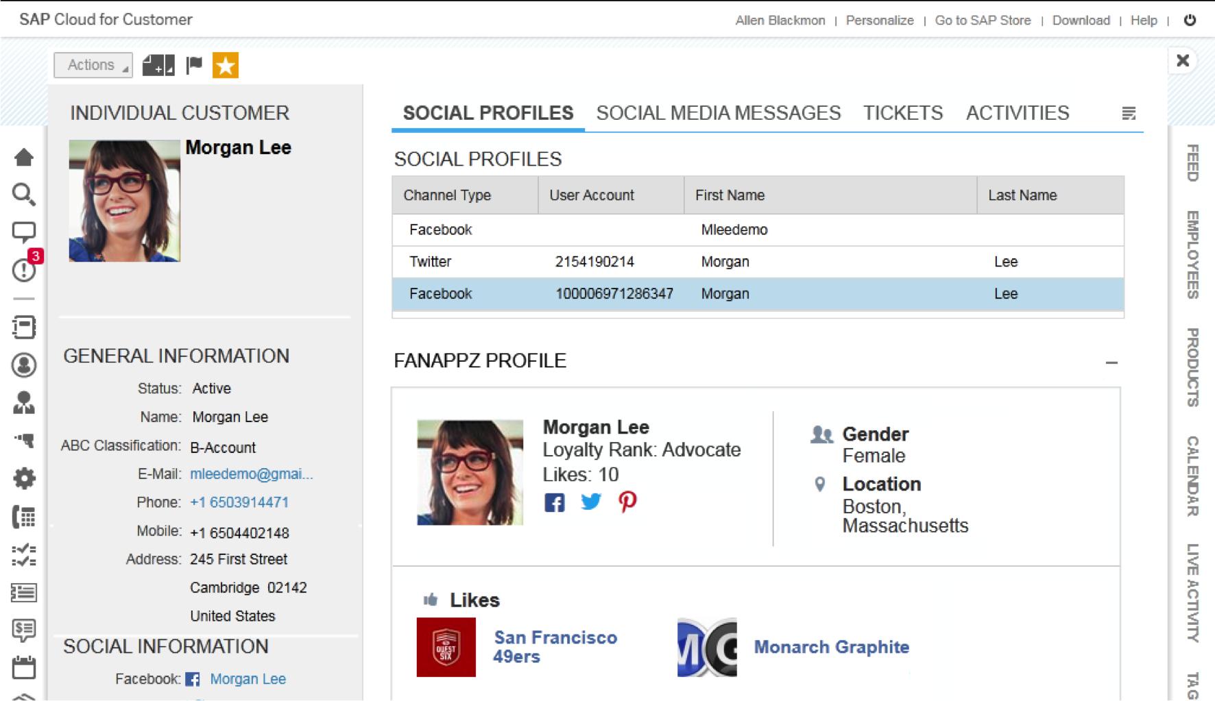 Social profile