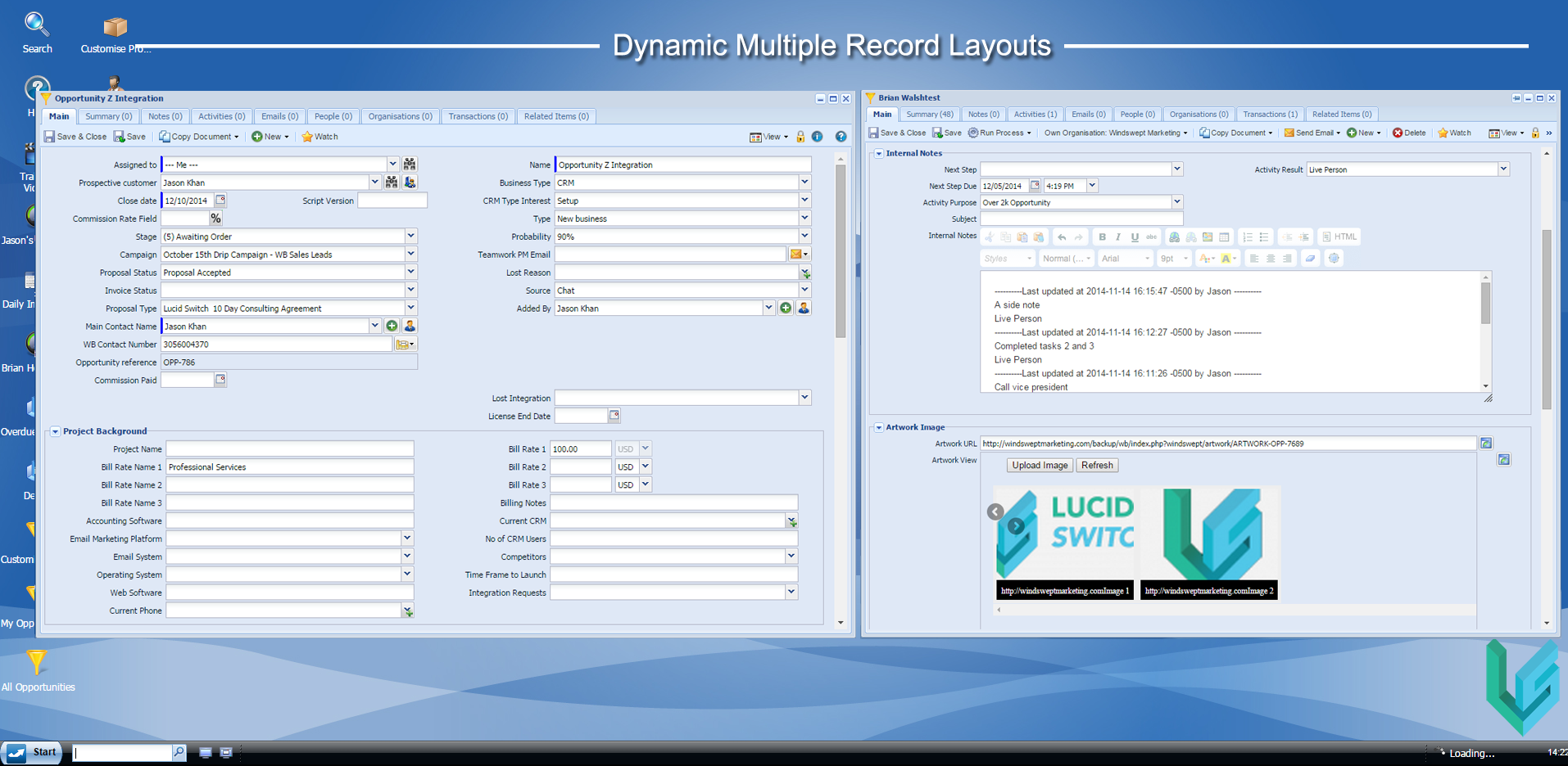Multiple Layouts and Custom Integrations