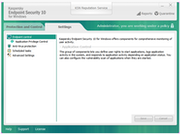 Endpoint Security Cloud - Security settings