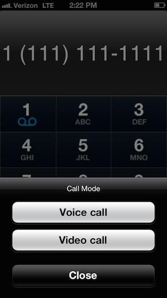 Call mode
