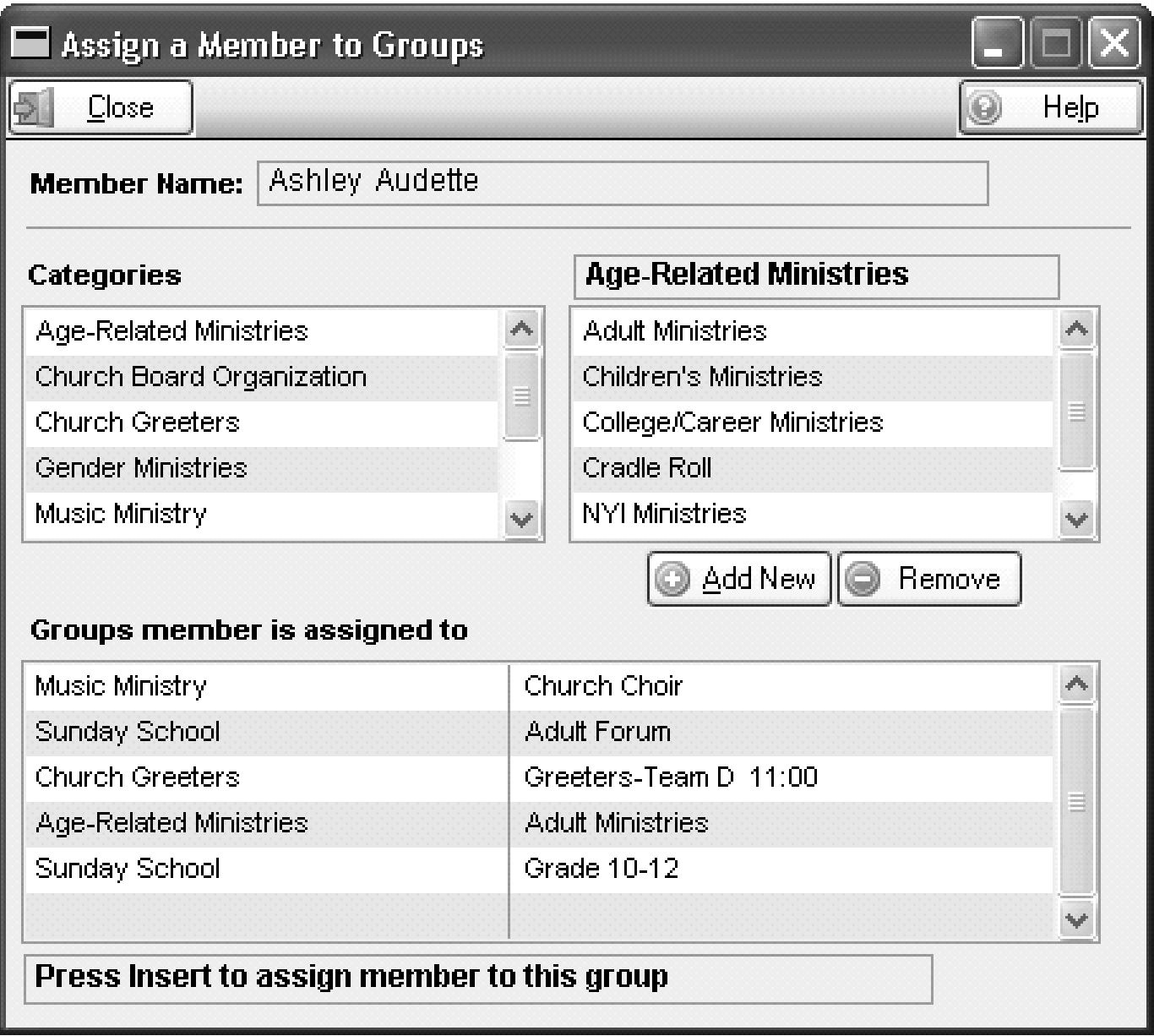 Small group management