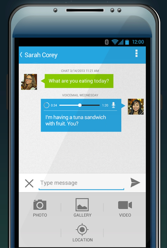 Android visual voicemail