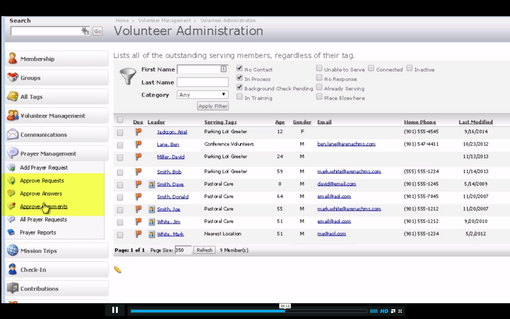 Volunteer coordination