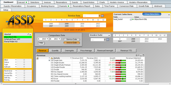 Business intelligence view