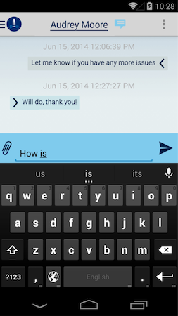 Messaging interface