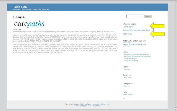 Client and staff portals