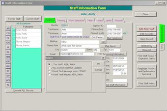 Staff data