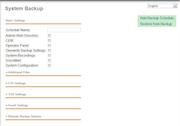 PBXact - Backup settings