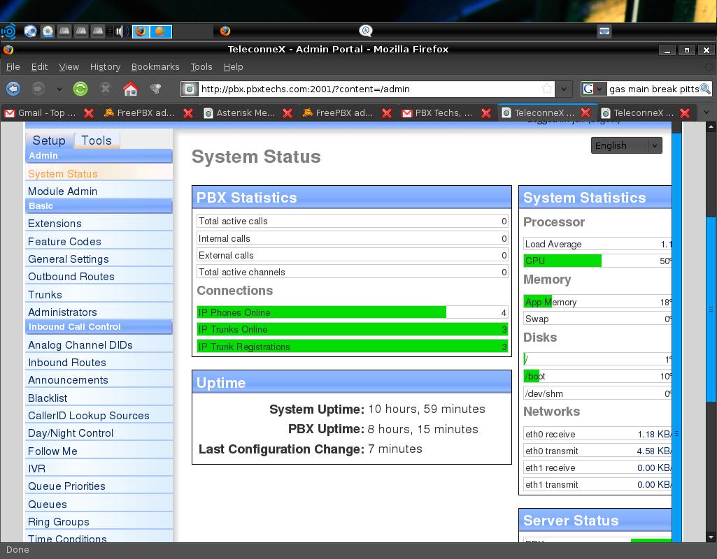 System status