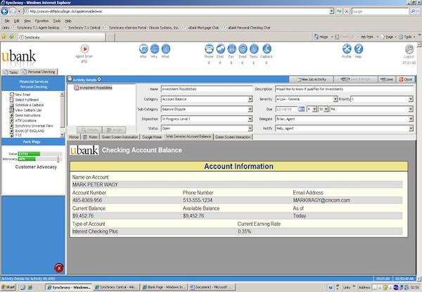 Synchrony - Account information