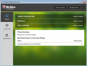 McAfee Endpoint Protection Advanced for SMB - Status view