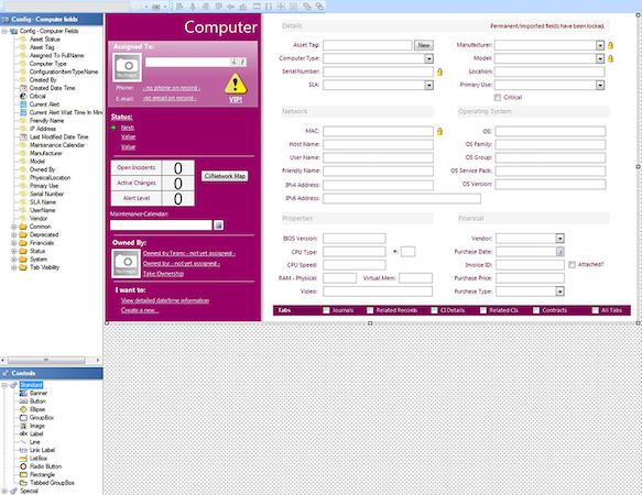Cherwell Service Management - Computer details