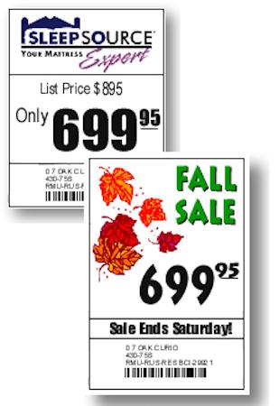 Print price tags