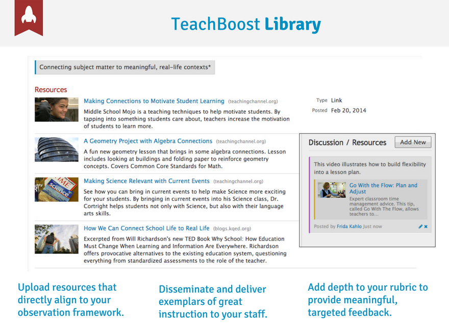 TeachBoost library