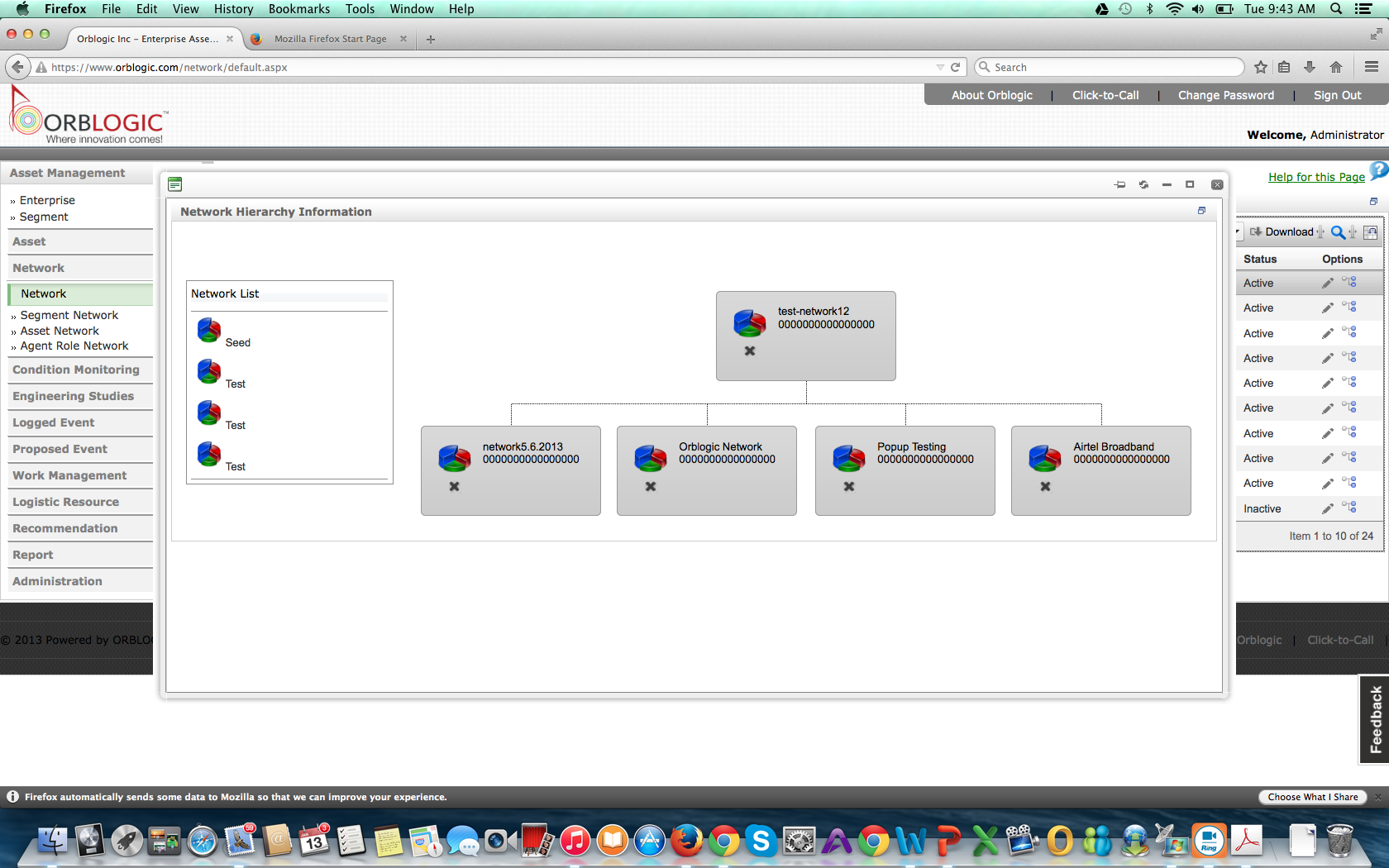 Network Hierarchy Information