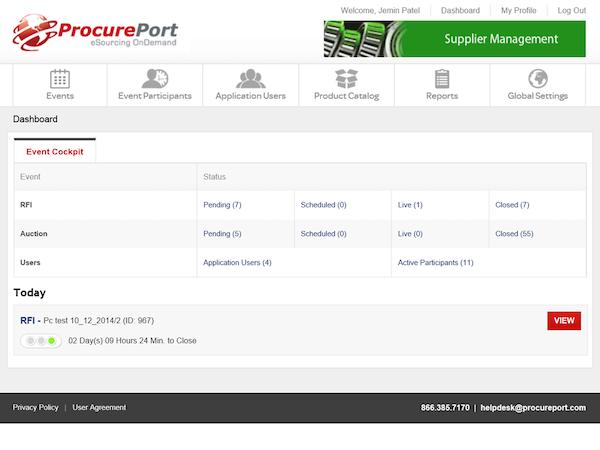ProcurePort - Supplier management