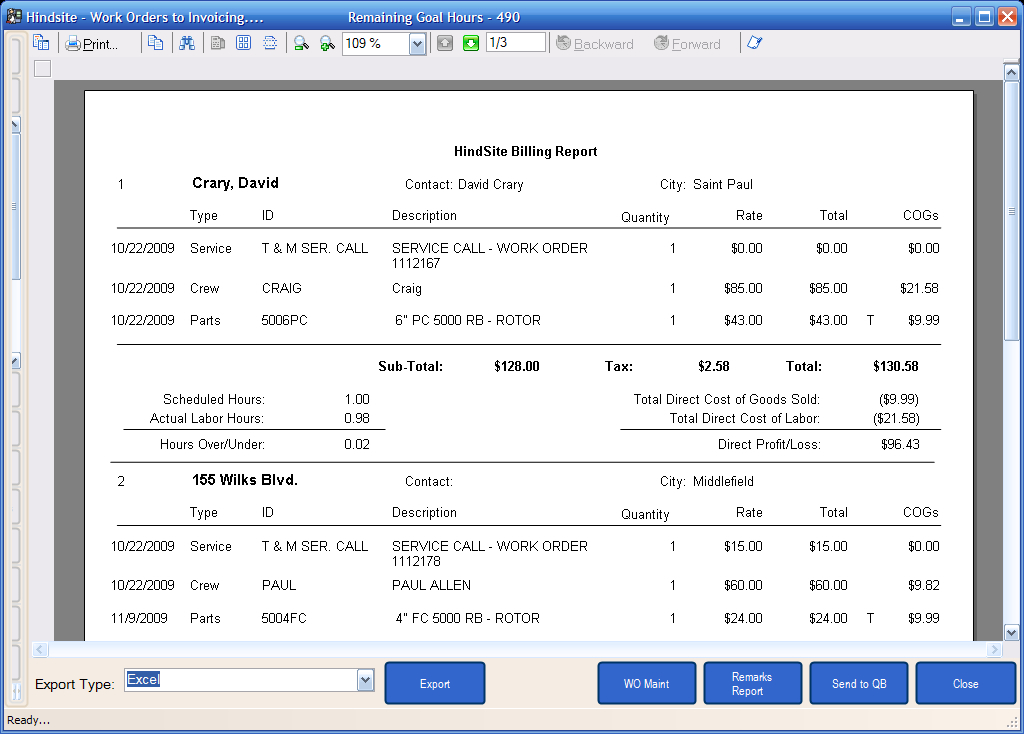 Billing Report for QuickBooks Invoices