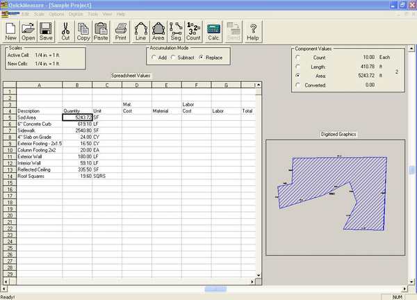 Paper Blueprint Takeoff w/Excel Interface