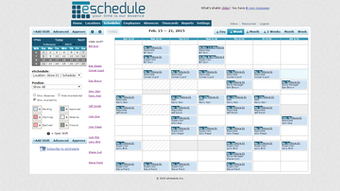 Weekly Schedule View