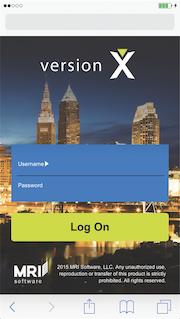Mobile login screen