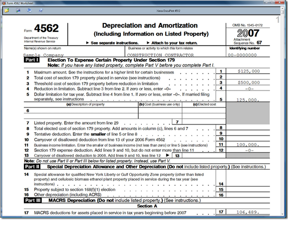 View depreciation and amortization schedule