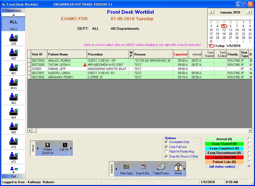 RISynergy - Front Desk Worklist