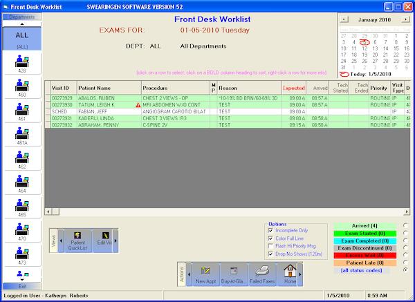 Front Desk Worklist