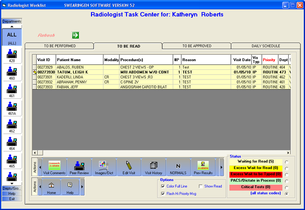 Radiologist Task Center