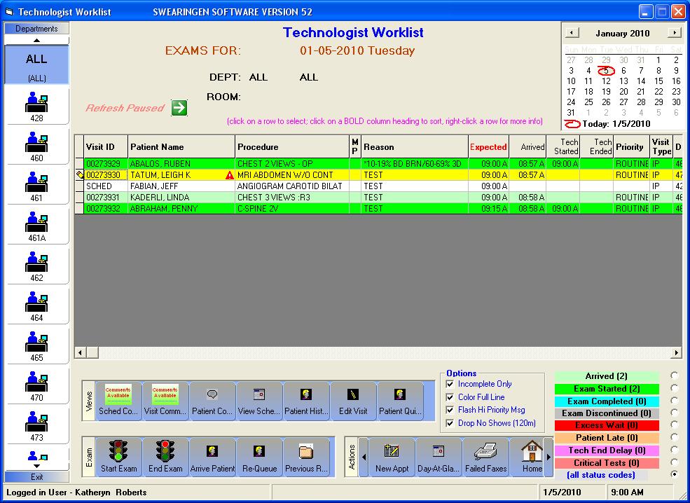 RISynergy - Technologist Worklist