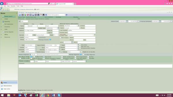 Search patient profiles
