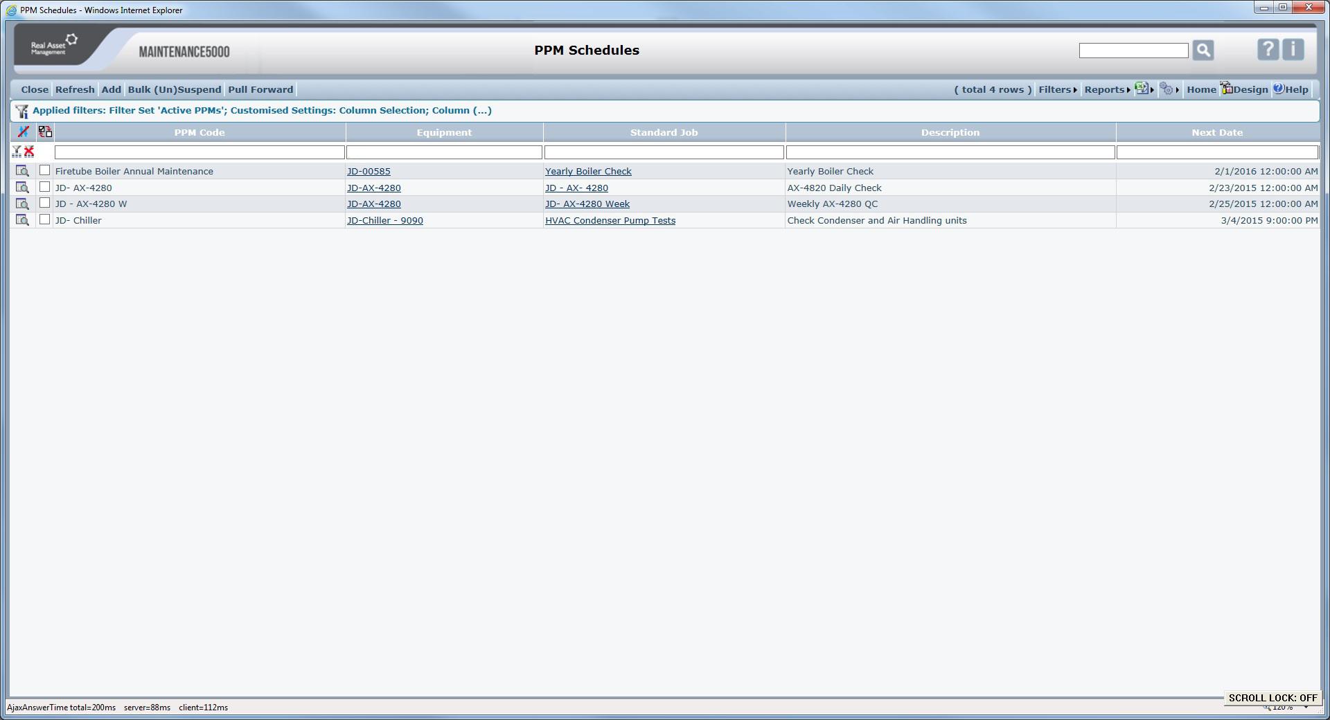 PPM Schedule