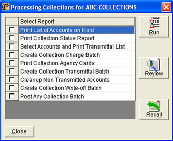 Collection processing