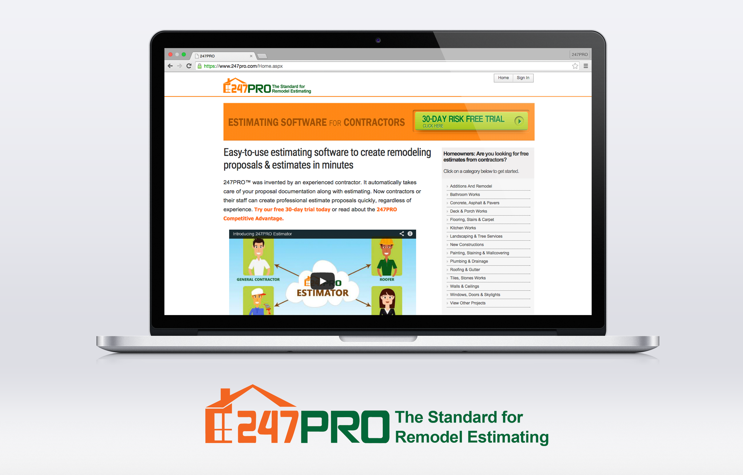 247PRO for Remodel Estimating