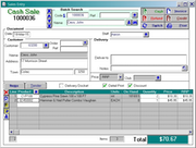 Acumen - Cash Sale Screen