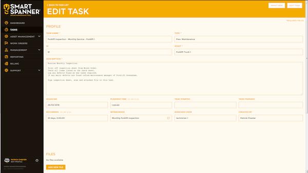 Edit Tasks