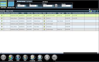Patient scheduling grid