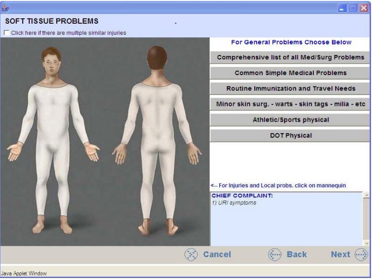 Patient problems visual