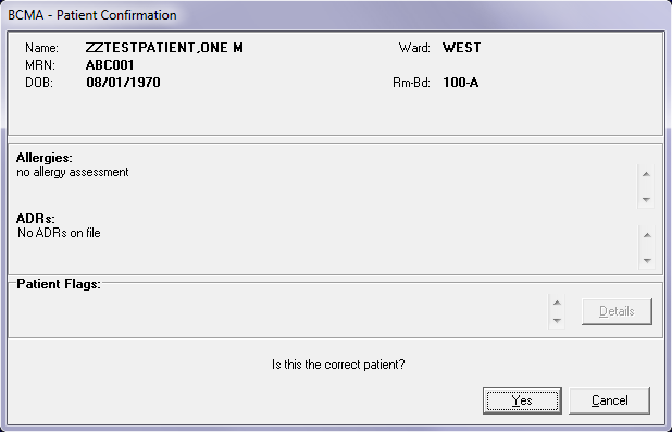 Patient schedule confirmation