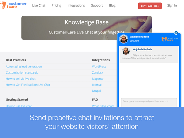 Chat invitations