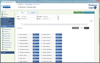 Manage employee records