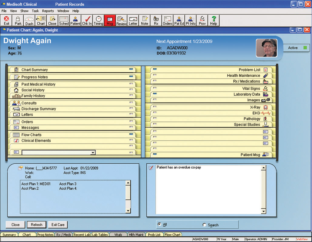 Medisoft Clinical - Patient records