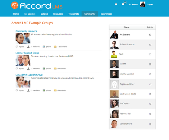 Accord LMS - My Groups