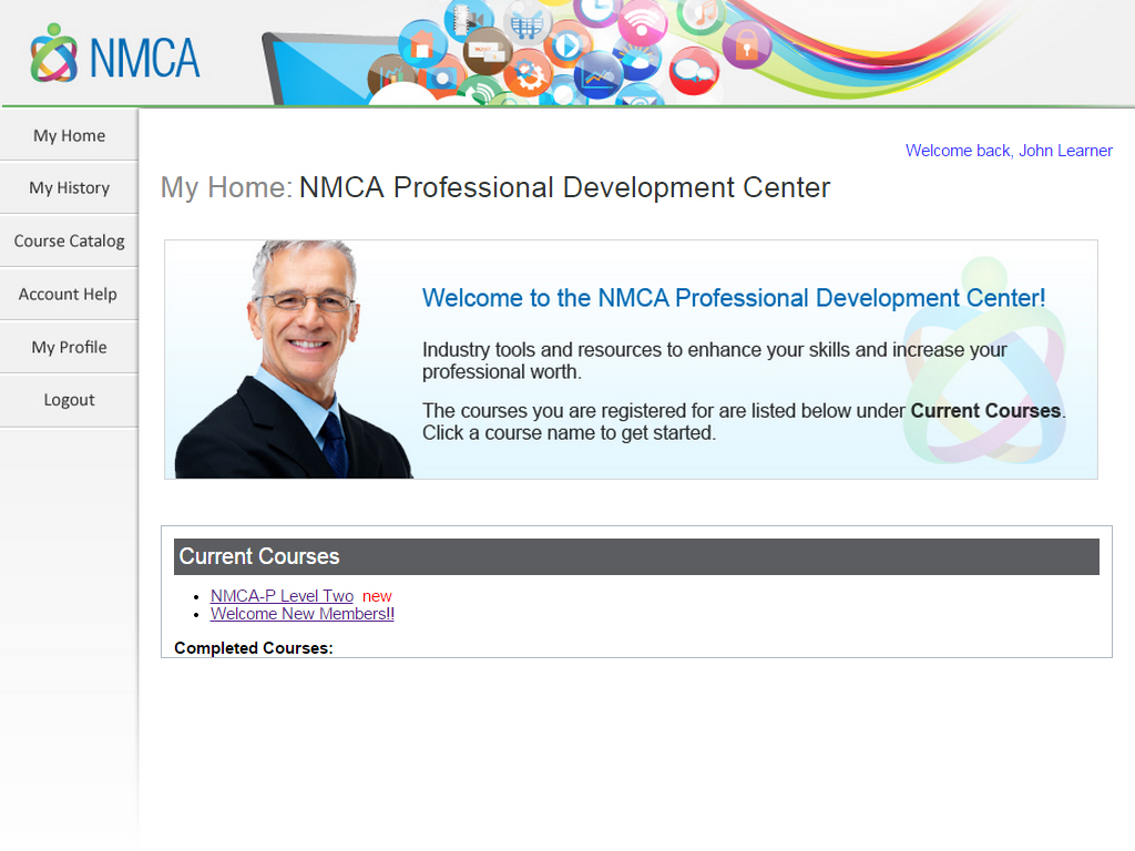 Learner Home Page